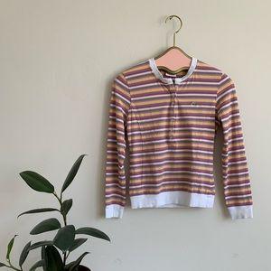 Lacoste Sport Long Sleeve Multicolor Stripe Henley